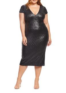 Dress the Population Allison Sequin Sheath Dress (Plus Size)
