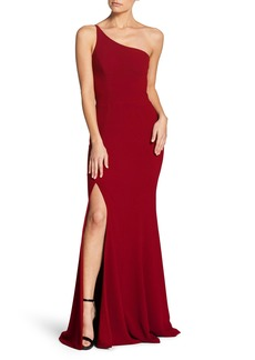 Dress the Population Amy One-Shoulder Crepe Gown