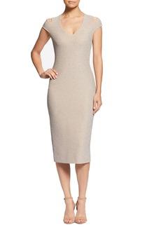Dress the Population Bryce Slit Sleeve Midi Dress