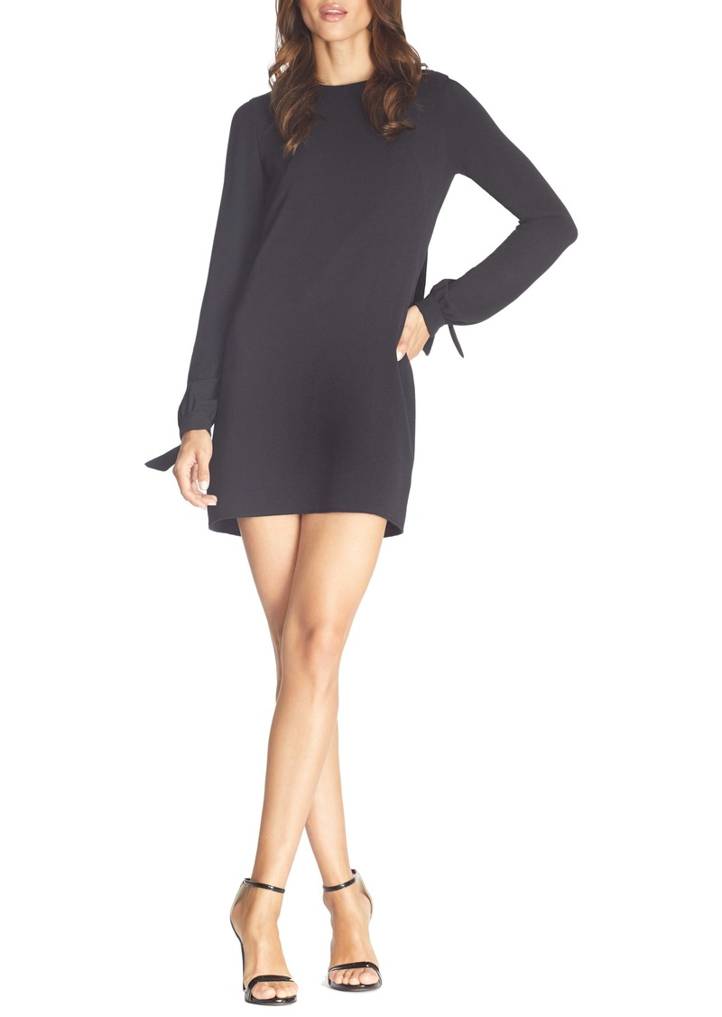 Dress the Population Dahlia Long Sleeve Drape Back Minidress