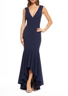 Dress the Population High/Low Trumpet Gown