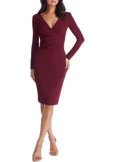 Dress the Population Drew Long Sleeve Body-Con Dress