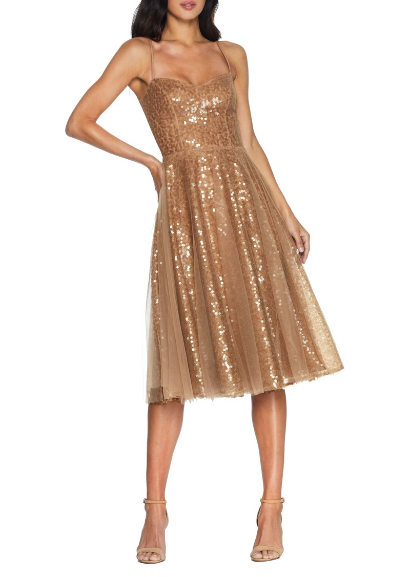 Dress the Population Edith Sequin Fit & Flare Cocktail Dress