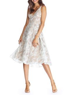 Dress the Population Elisa Lace Fit & Flare Dress