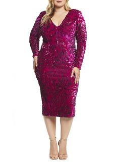 Dress the Population Elizabeth Plunge Midi Dress (Plus)