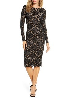 Dress the Population Emery Long Sleeve Lace Cocktail Dress