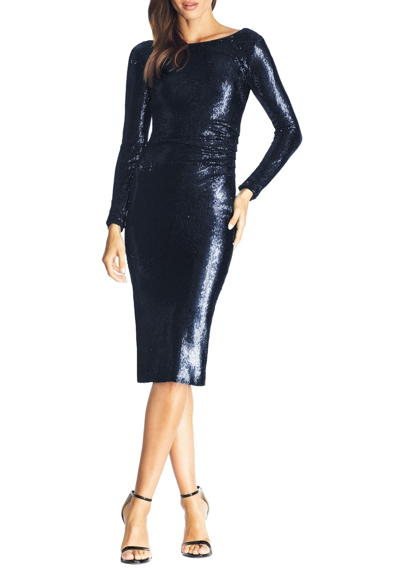 Dress the Population Emilia Sequin Long Sleeve Cocktail Dress