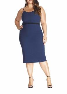 Dress the Population Emma Demi Sheath Crepe Midi Dress