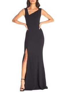 Dress the Population Helena Asymmetrical Neck Evening Gown