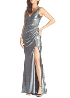 Dress the Population Jordan Ruched Mermaid Gown
