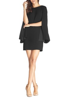 Dress the Population Lillie Long Cape Sleeve Minidress