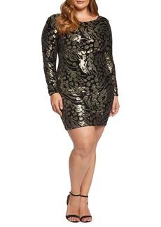 Dress the Population Lola Sequin & Velvet Minidress (Plus Size)