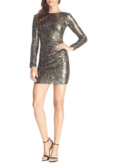 Dress the Population Lolita Long Sleeve Sequin Minidress