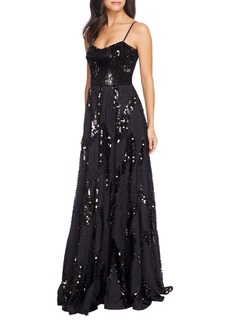 Dress the Population Marianna Paillette Evening Gown