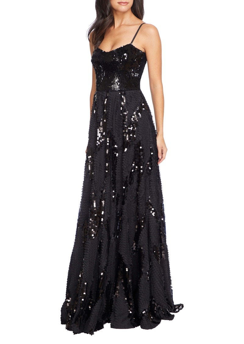 Dress the Population Marianna Paillette Evening Gown