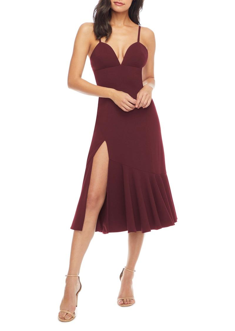 Dress the Population Marilyn Slit Midi Dress