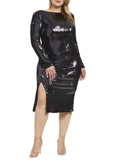 Dress the Population Natalie Sequin Sheath Dress (Plus Size)