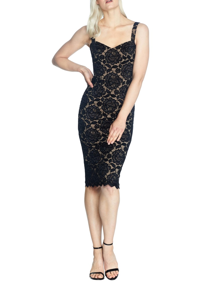 Dress the Population Nicole Lace Body-Con Cocktail Dress