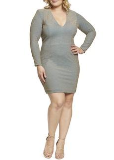 Dress the Population Riley Metallic Sheath Dress (Plus Size)