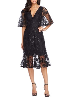 Dress the Population Roseanna Lace Sequin Fit & Flare Dress