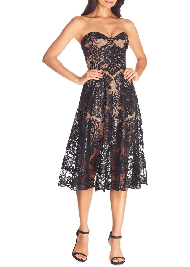 Dress the Population Sadie Strapless Fit & Flare Dress