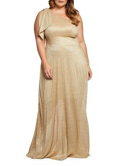 Dress the Population Savannah One-Shoulder Gown (Plus Size)