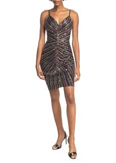 Dress the Population Viviane Sequin Ruched Minidress