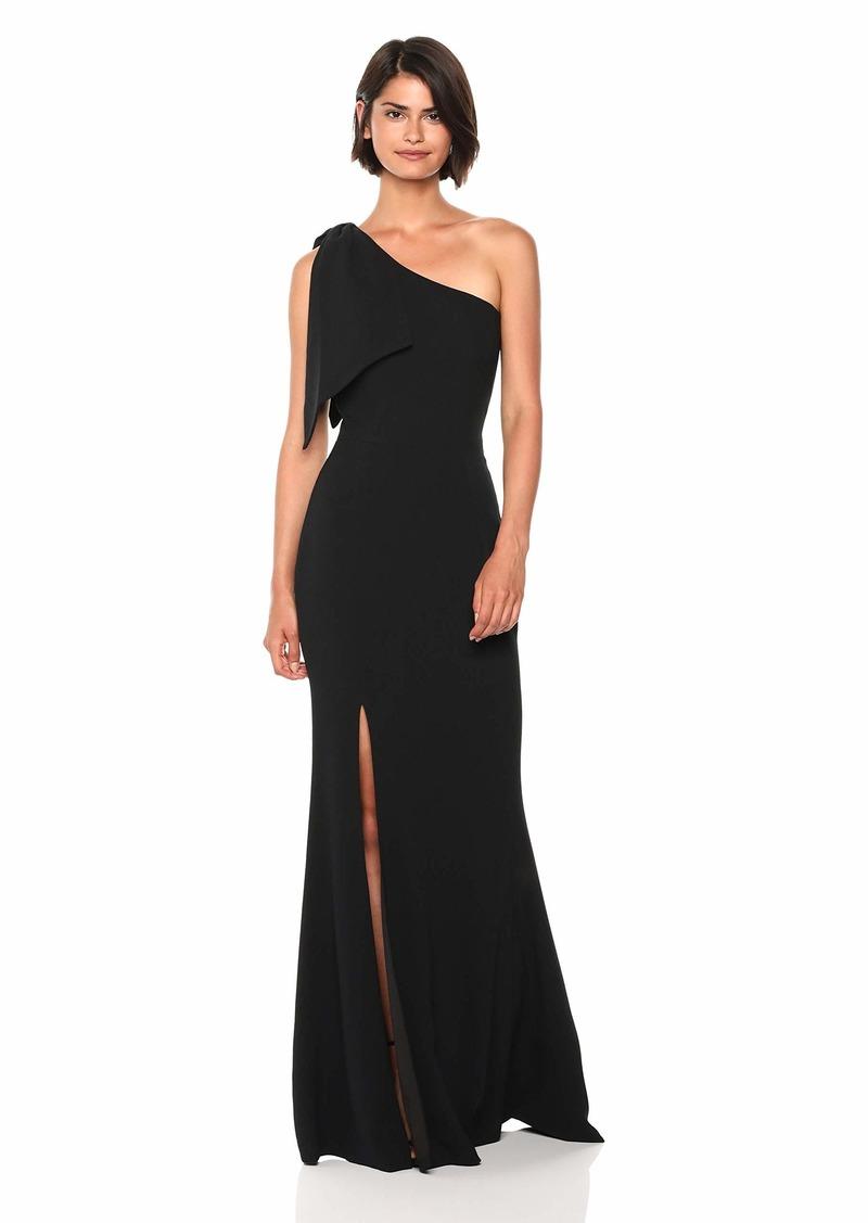 Dress the Population Women's Georgina One Shoulder Bow Detail Trumpet Gown Long Dress  XXL