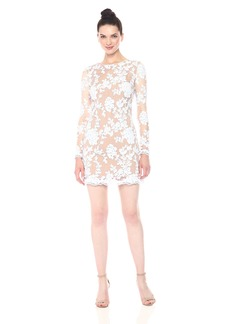 Dress the Population Women's Grace Long Sleeve Sequin Lace Mini Dress  XS
