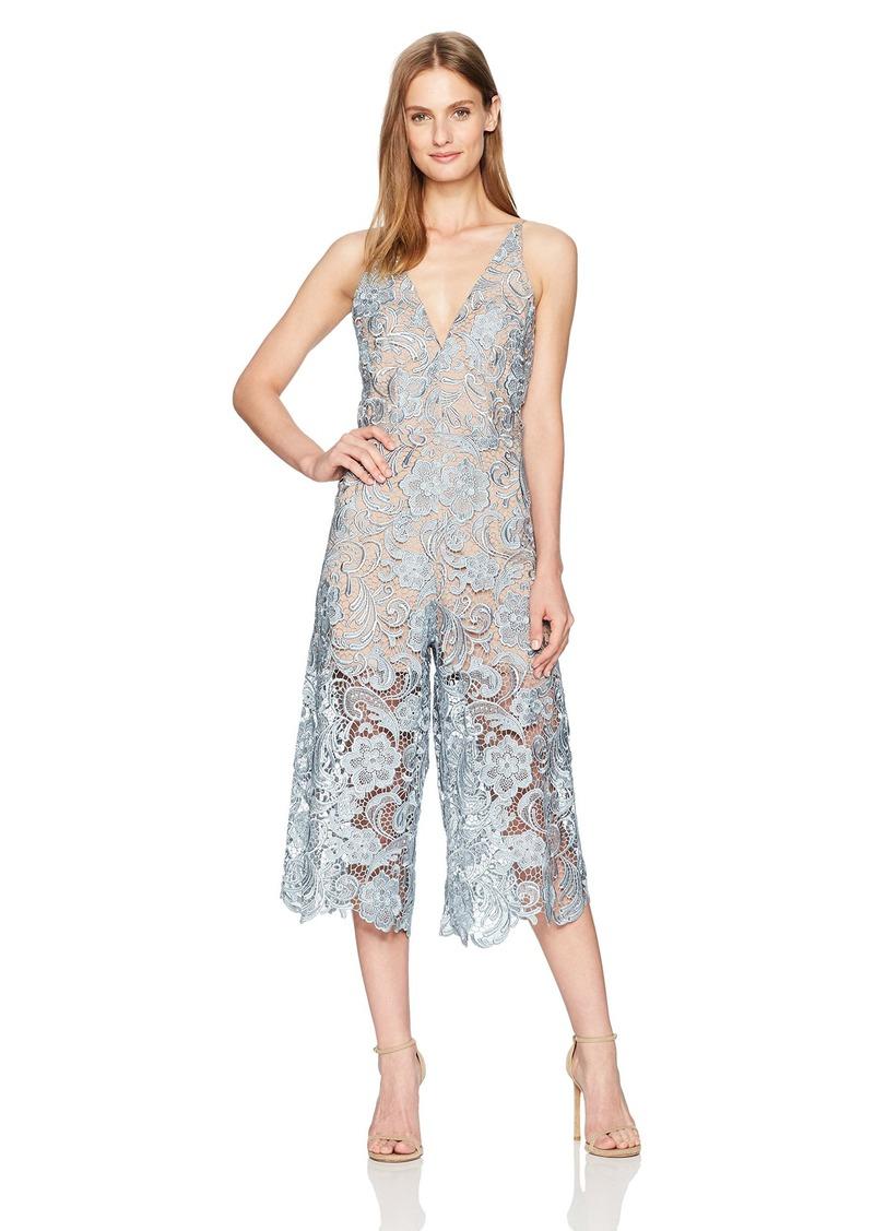 Dress the Population Women's Marion Lace Jumpsuit  L