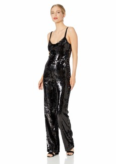 Dress the Population Women's Victoria Demi Sequin Sleeveless Jumpsuit  L