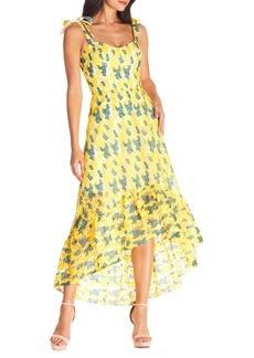 Dress the Population Wren Tie Shoulder High/Low Cocktail Dress