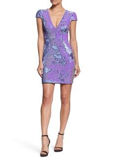 Dress the Population Zoe Plunge Neck Sheath Dress