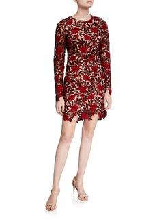 Dress the Population Jessica Floral Crochet Dress