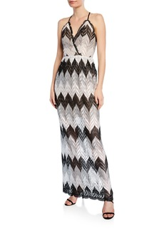 Dress the Population Lucia Chevron Patter Maxi Dress