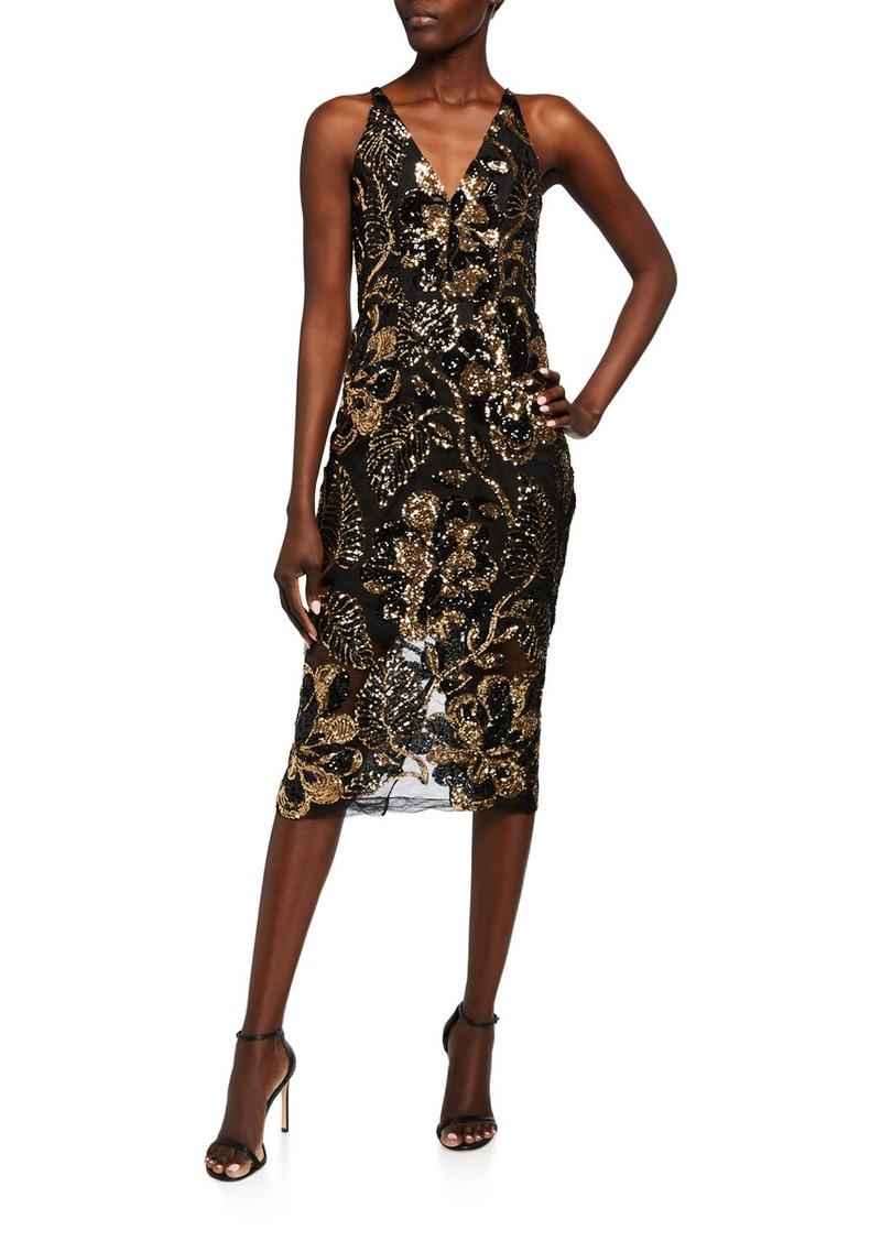 Dress the Population Margo Sequin Midi Dress