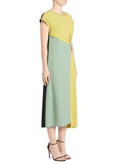 Dries Van Noten Asymmetric Short-Sleeve Shift Dress