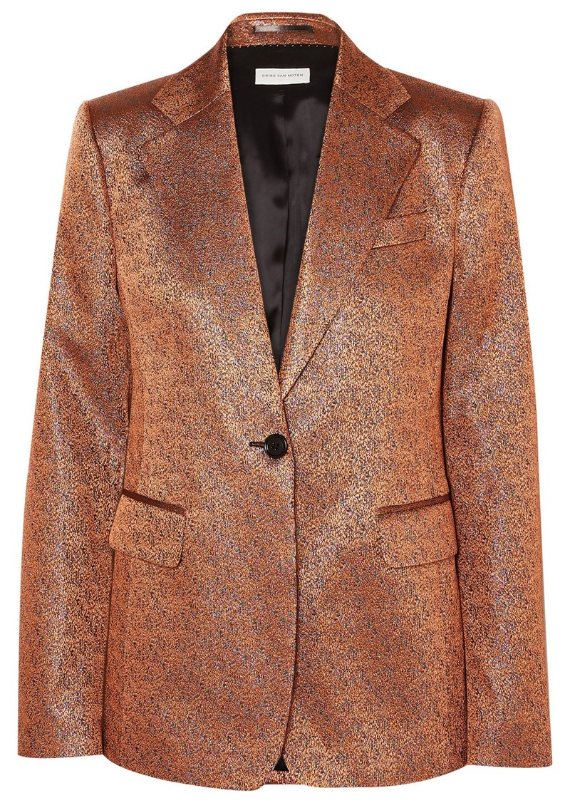 Dries Van Noten Barbilar Lamé Blazer