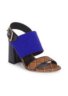 Dries Van Noten Beaded & Woven Ankle Sandals