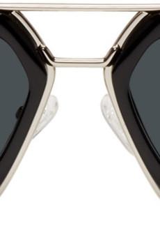 Dries Van Noten Black & Silver 173 C1 Sunglasses