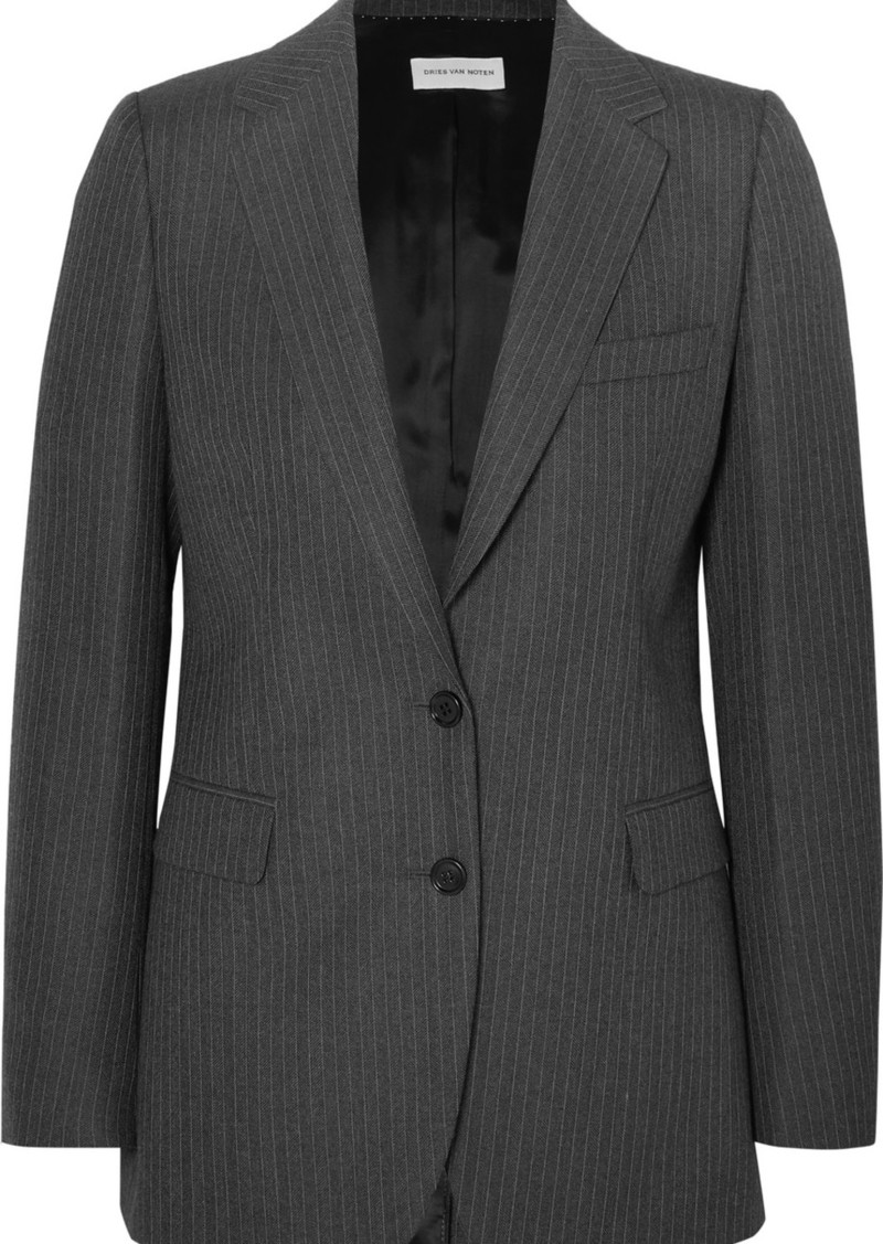 Dries Van Noten Blest Pinstriped Wool Blazer
