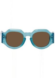 Dries Van Noten Blue Linda Farrow Edition 174 C7 Angular Sunglasses