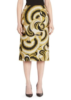 Dries Van Noten Brocade Pencil Skirt