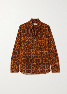 Dries Van Noten Leopard-print Satin Blouse