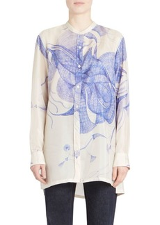 Dries Van Noten Sheer Silk Blouse