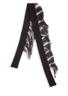 Dries Van Noten Cashmere & Feather Scarf