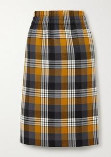 Dries Van Noten Checked Wool Midi Skirt