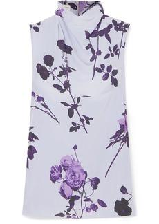 Dries Van Noten Chiara Floral-print Crepe Top