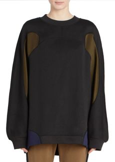 Dries Van Noten Color Block Crewneck Sweatshirt