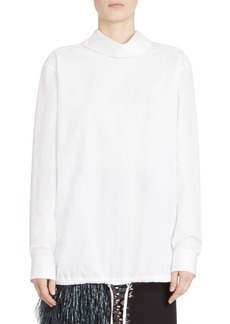 Dries Van Noten Cotton Turtleneck Blouse